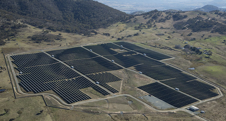 Aerial photo, Royalla Solar Farm, ACT,21 June, 2015 for FRV